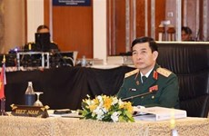 Une haute délégation militaire du Vietnam en visite officielle au Myanmar