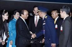 Le PM Nguyen Xuan Phuc arrive à Bangkok pour assister au 35e sommet de l'ASEAN