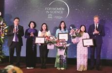 Trois Vietnamiennes honorées par L'Oréal-UNESCO