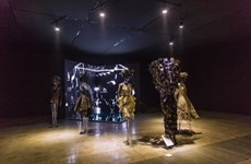 """HCM-Ville: Ouverture de l'exposition """"Bloc silencieux"""" de Nguyên Công Tri"""