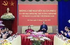 Le Premier ministre exhorte Ha Nam à faire des efforts dans le développement