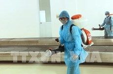 Cinq tonnes de désinfectant fournies pour aider à combattre les coronavirus