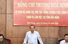 Le vice-Premier ministre permanent Truong Hoa Binh à Dak Nông