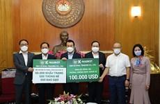 COVID-19: K-Market offre 100.000 USD au Vietnam
