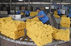 Les exportations nationales de caoutchouc se portent bien en juillet