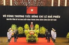 Plus de condoléances envoyées au Vietnam pour le décès de l'ancien chef du Parti