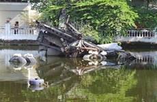 Hanoï: L'épave du bombardier B52 dans le lac Huu Tiêp, un souvenir de guerre