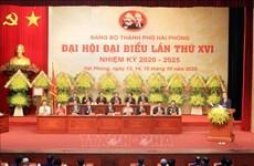 Ouverture du 16e Congrès de l'organisation du Parti de la ville de Hai Phong