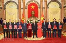 Le dirigeant Nguyen Phu Trong remet ses décisions de nomination à 9 nouveaux ambassadeurs