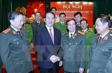 Le chef de l'Etat plaide pour l'édification des forces de police saines et fortes