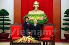 Le secrétaire général Nguyen Phu Trong reçoit le Premier ministre japonais Shinzo Abe