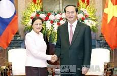 Vietnam-Laos:: Le président invite les deux AN à œuvrer à la réalisation des accords