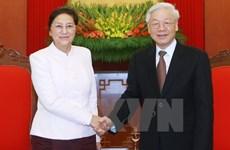 Le secrétaire général du PCV réaffirme la solidarité spéciale Vietnam-Laos