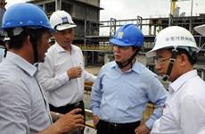 Un ministre inspecte les ouvrages de protection environnementale de Formosa