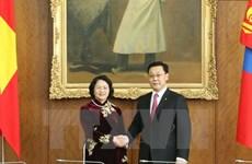 La vice-présidente vietnamienne et le PM mongol discute de la promotion des liens bilatéraux