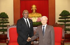 Le président du Sénat haïtien Youri Latortue reçu par des dirigeants vietnamiens