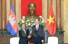 Le président Tran Dai Quang reçoit le président de l'AN cambodgienne