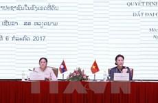 Le Vietnam et le Laos s'échangent sur la décision et la surveillance foncières