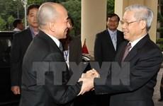 Le secrétaire général Nguyên Phu Trong au Cambodge pour une visite historique