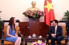 La présidente de la Commission des Affaires étrangères du Sénat mexicain au Vietnam