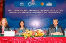 Lutte anti-corruption: l'ACTWG se réunit avec les organisations internationales