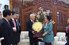 Le leader du PCV et la présidente du PDI-P plaident pour des liens accrus
