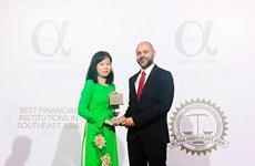 "Vietcombank élue ""Meilleure banque du Vietnam 2017"" par Alpha SEA"