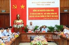 Le PM exhorte Hâu Giang à bâtir une agriculture multifonctionnelle