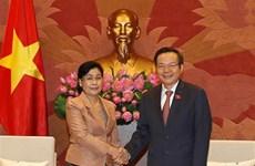 Le vice-président de l'AN Phung Quôc Hiên reçoit le chef de l'Audit de l'État du Laos