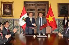 Le Pérou veut booster ses liens avec le Vietnam, plaide pour une ZLEAP