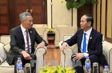 APEC 2017: le chef de l'Etat promet des conditions optimales pour les investisseurs singapouriens