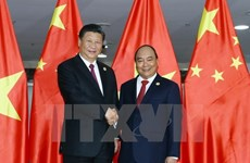 Le PM Nguyen Xuan Phuc rencontre le leader chinois Xi Jinping
