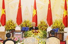 Réception solennelle en l'honneur du président chinois Xi Jinping