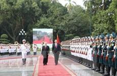 Nguyen Phu Trong préside la cérémonie d'accueil du dirigeant chinois Xi Jinping