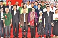 La présidente de l'AN à la Fête de grande union nationale à Hoa Binh