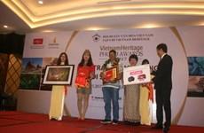 Remise des prix du concours de photos sur le patrimoine du Vietnam 2017