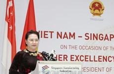 Nguyên Thi Kim Ngân au dialogue d'affaires Vietnam-Singapour