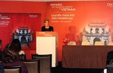 De nouvelles coopérations entre l'Ontario (Canada) et le Vietnam