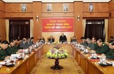 Le leader du PCV à la conférence-bilan de la Commission militaire centrale