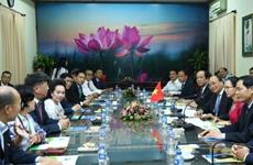 Le PM reçoit des investisseurs participant à la conférence sur l'investissement à Dông Thap
