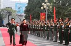La présidente de l'AN travaille avec le commandement de la capitale