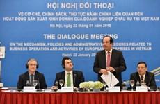 Dialogue sur les politiques avec les entreprises européennes