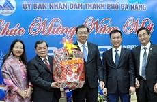 Des diplomates étrangers présentent leurs vœux du Têt 2018 à Dà Nang