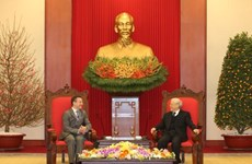 Le secrétaire général du Parti Nguyen Phu Trong reçoit l'ambassadeur de France