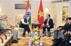 Le président vietnamien exhorte à impulser le partenariat stratégique intégrale Vietnam-Inde