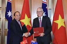 Déclaration commune sur l'établissement du partenariat stratégique Vietnam-Australie