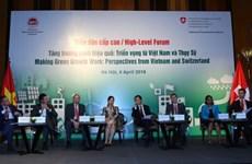 Coopération Vietnam-Suisse pour la croissance verte