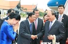 Le PM Nguyên Xuân Phuc au Cambodge pour le sommet de la MRC