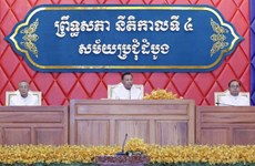 Cambodge : Samdech Say Chhum réélu président du Sénat