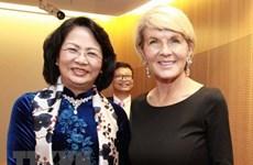 Activités de la vice-présidente Dang Thi Ngoc Thinh en Australie